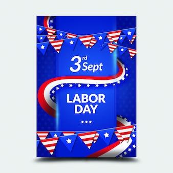 9 월 3 일 국제 노동절 포스터