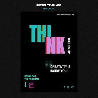 Poster ad school template