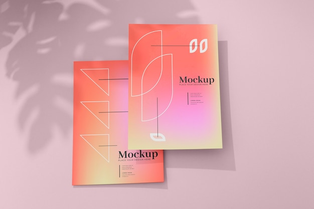 ポスターとチラシのモックアップデザイン