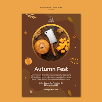 Poster autumn fest template