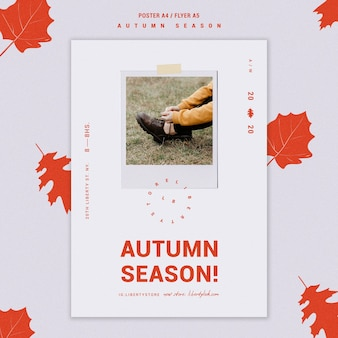 Poster for autumn new clothing collection