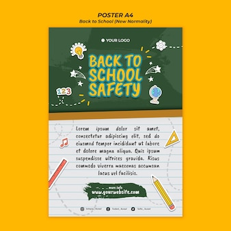 Poster for back to school season