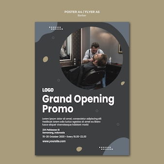 Poster barber shop template