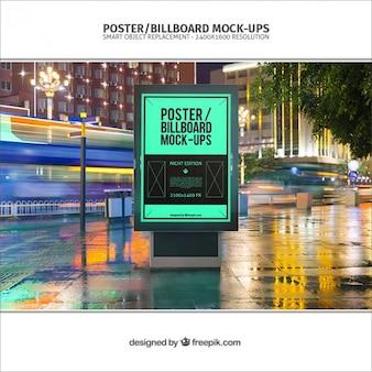 Poster billboard mockup Premium Psd