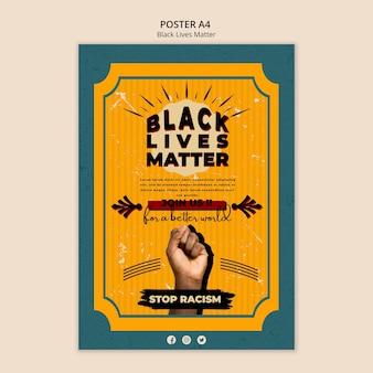 Poster for black lives matter