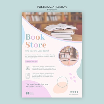 Poster bookstore ad template