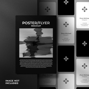 Poster and business card mockup