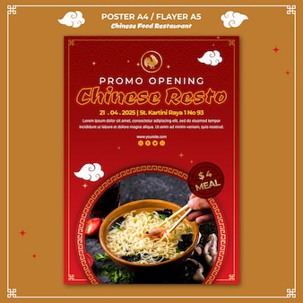 Poster chinese food template