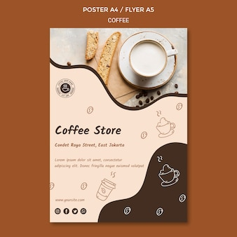 Poster coffee shop ad template