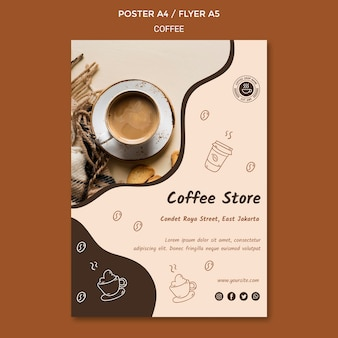 Poster coffee shop template