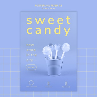 Poster concept for candy shop template