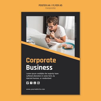 Poster for corporate business