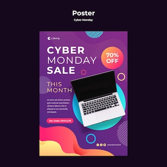 Poster cyber monday template