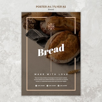 Poster design for bread business