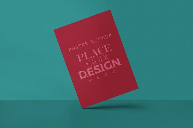 画像ギャラリー、展示会、プレゼンテーションデザインのポスターデザインモックアップ