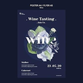 Degustazione di vini con design di poster