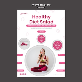 Poster diet plan ad template