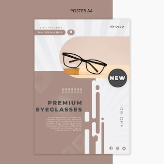 Poster per azienda di occhiali da vista Psd Gratuite