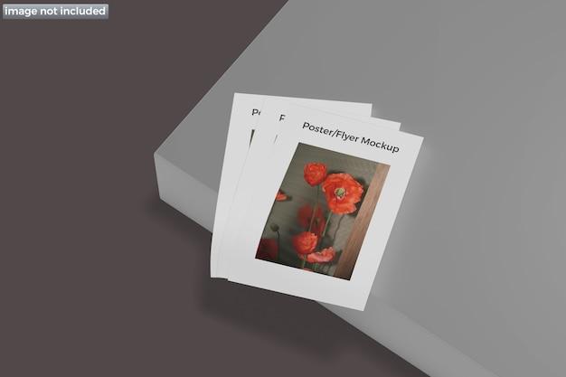 Макет плаката флаера изолированные
