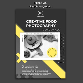 Poster food photography ad template
