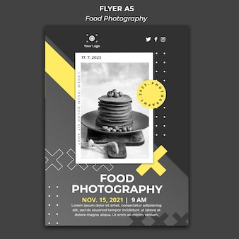 Poster food photography template