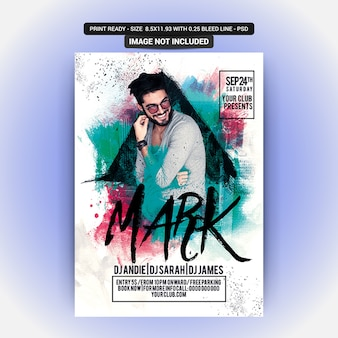 Poster for a mark music party