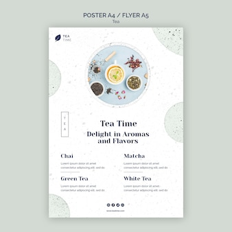 Плакат для ароматного чая