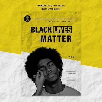 Плакат для черных жизней имеет значение