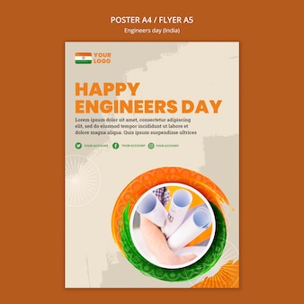 エンジニアの日のお祝いのためのポスター