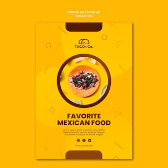 メキシコ料理レストランのポスター