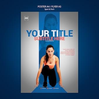 Плакат для спорта и техники