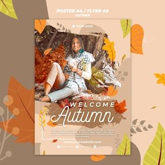 Плакат для приветствия осеннего сезона