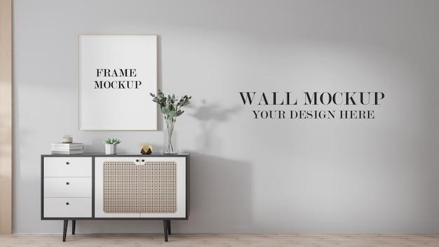 Рамка для плаката и макет стены