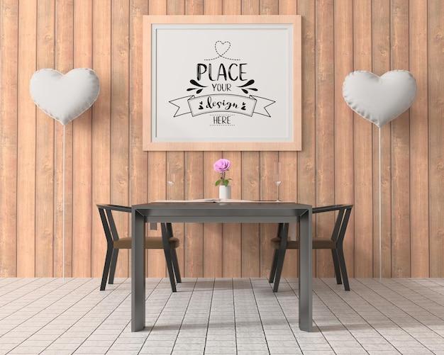 Cornice poster in sala da pranzo