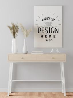 Poster frame in hall mockup