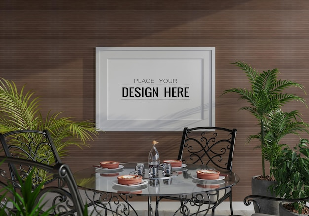 Рамка для плаката в гостиной, макет