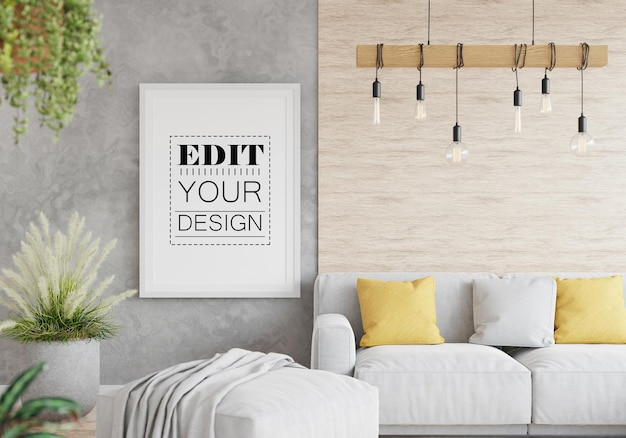 Рамка для плаката в гостиной