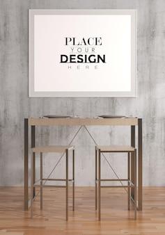 Poster frame in soggiorno psd mockup Psd Gratuite