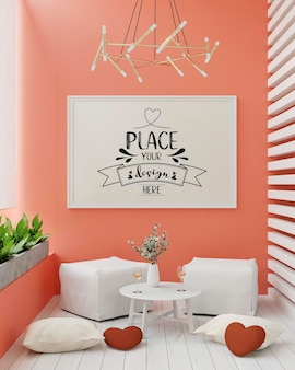Cornice poster in soggiorno