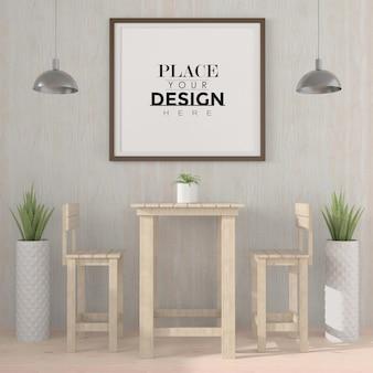 Poster frame in living room