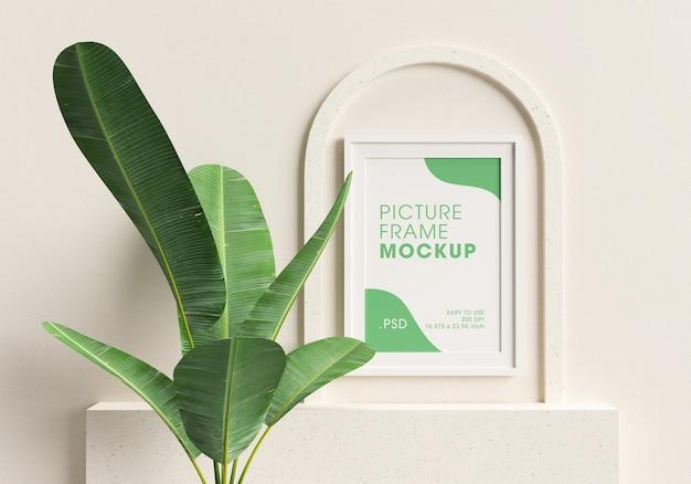 Рендеринг дизайна макета рамки плаката