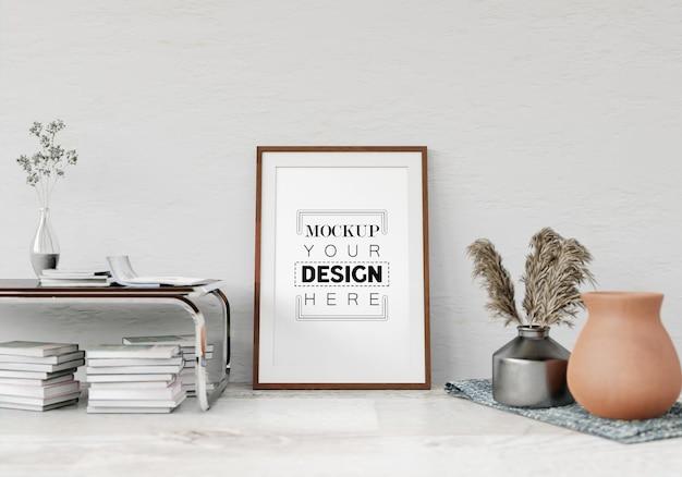 거실의 포스터 프레임 모형
