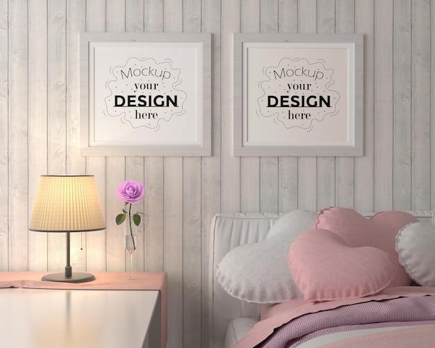 침실에서 포스터 프레임