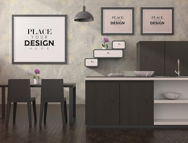 Рамки для плакатов в столовой и на кухне