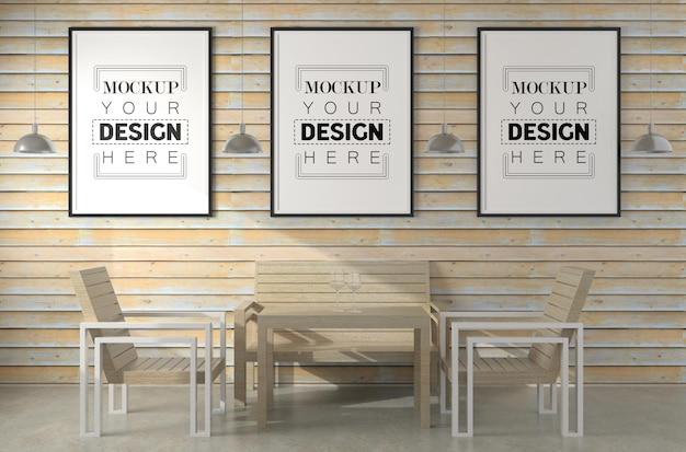 Рамки для плакатов в гостиной