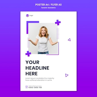 Poster for free theme with dynamic geometrics