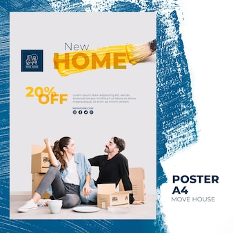 Poster per servizi di trasloco domestico
