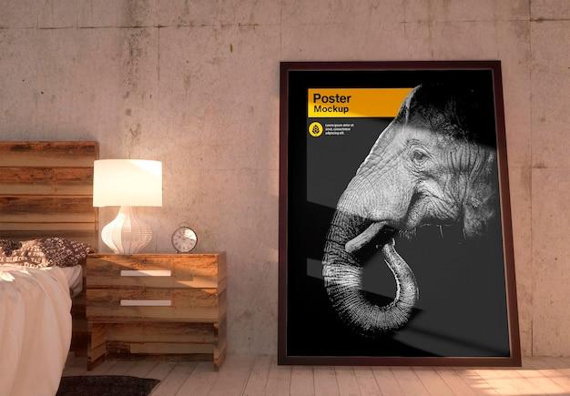 Плакат в дизайне макета спальни изолированные