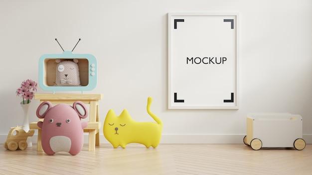 Постер в интерьере детской комнаты