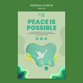 Poster per la giornata internazionale della pace